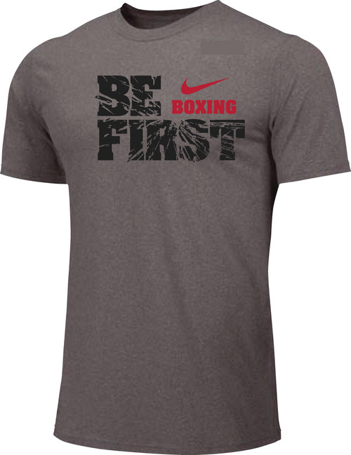 Nike Men's Boxing Be First Cotton Tee - Grey