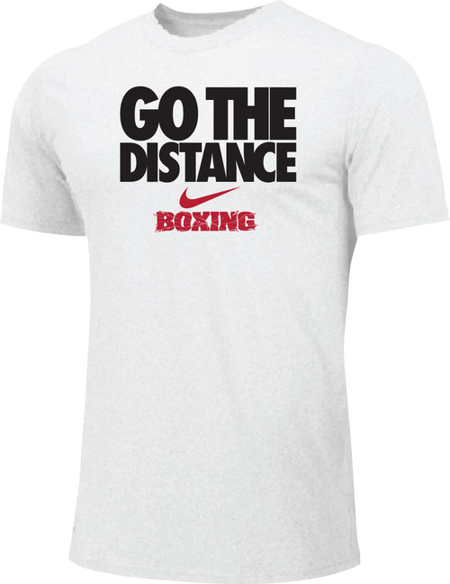 Nike Men's Boxing Go The Distance Cotton Tee - White