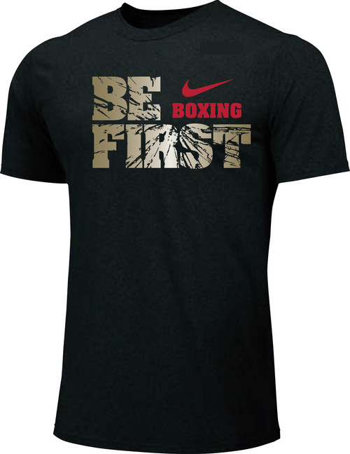 Nike Youth Boxing Be First Cotton Tee - Black