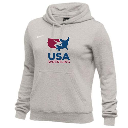 Nike Women's USAWR Club Fleece Hoodie - Grey