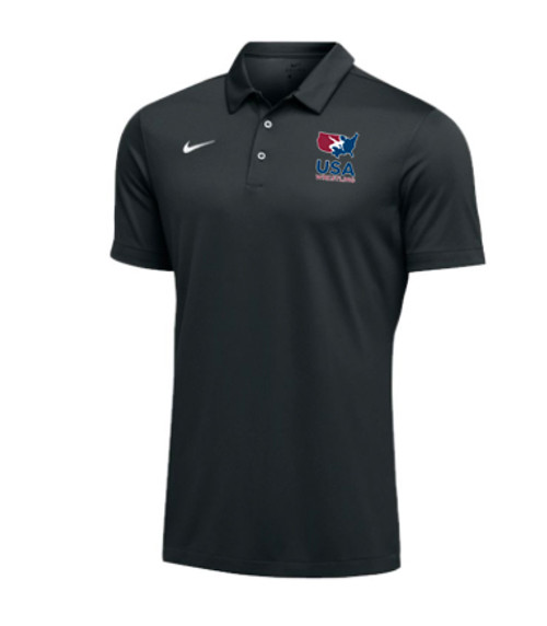 Nike Men's USAWR Team Polo - Black
