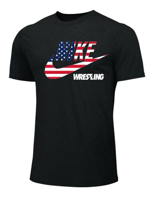 Nike Men's Wrestling Smith Tee - Black