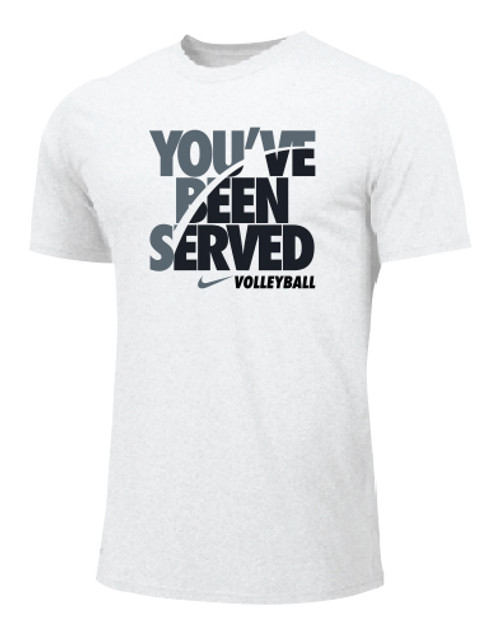 Nike Men's Volleyball You've Been Served Tee - White/Grey/Black