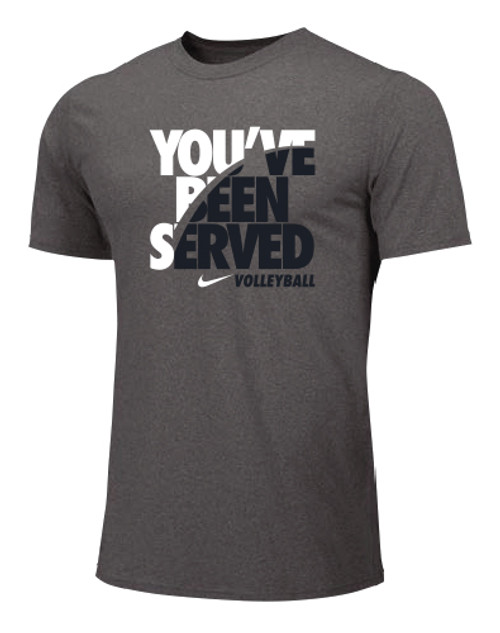 Nike Men's Volleyball You've Been Served Tee - Grey/White/Black