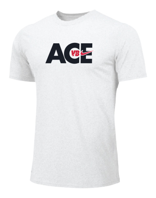 Nike Men's Volleyball Ace Tee - White/Black/Red