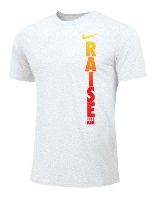 Nike Men's Weightlifting Raise The Bar Tee - White/Orange/Red