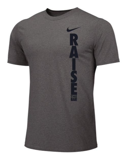 Nike Men's Weightlifting Raise The Bar Tee - Grey/Black