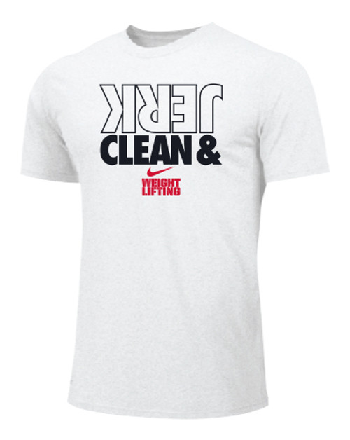 Nike Men's Weightlifting Clean and Jerk Tee - White/Black/Red