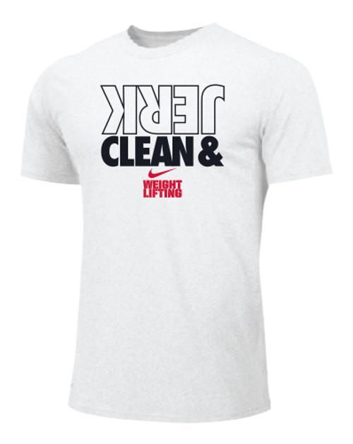 Nike Men's Weightlifting Clean and Jerk Tee - White/Black/Red