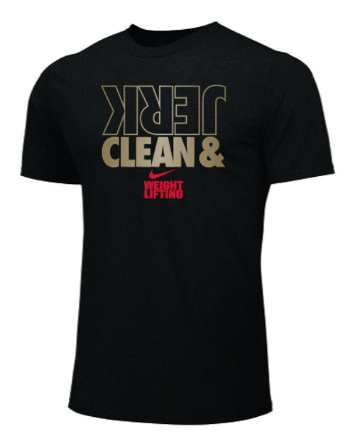 Nike Men's Weightlifting Clean and Jerk Tee - Black/Gold/Red