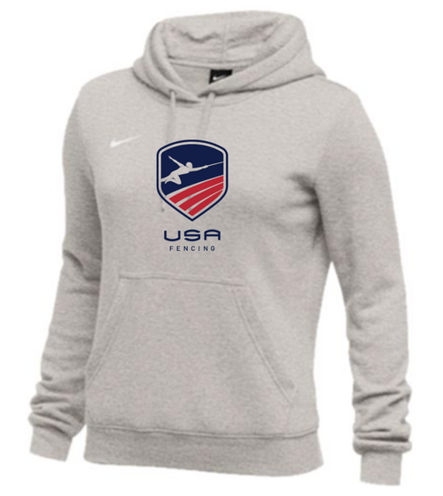 Nike Women's USAF Club Fleece Hoodie - Grey