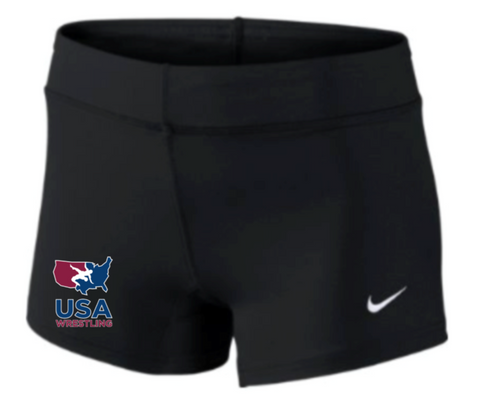 Nike Women's USAWR Performance Game Short - Black