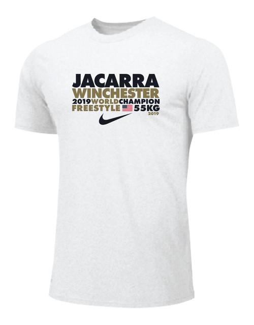 Nike Men's Wrestling Jacarra Champ Tee - White/Gold