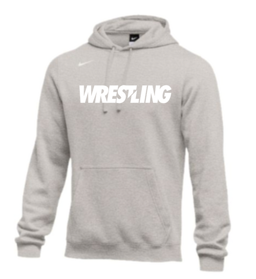 Nike Men's Wrestling Club Fleece Hoodie - Grey