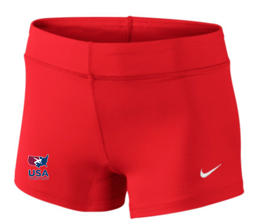 Nike Women's USAWR Performance Game Short - Scarlet