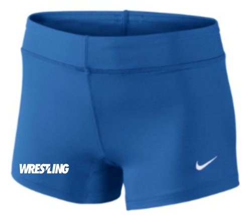 Nike Women's Wrestling Performance Game Short - Royal/White