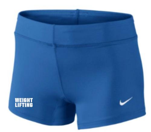 Nike Women's Weightlifting Performance Game Short - Royal/White