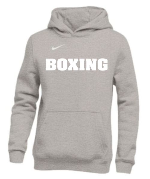 Nike Youth Boxing Pullover Club Fleece Hoodie - Grey/White