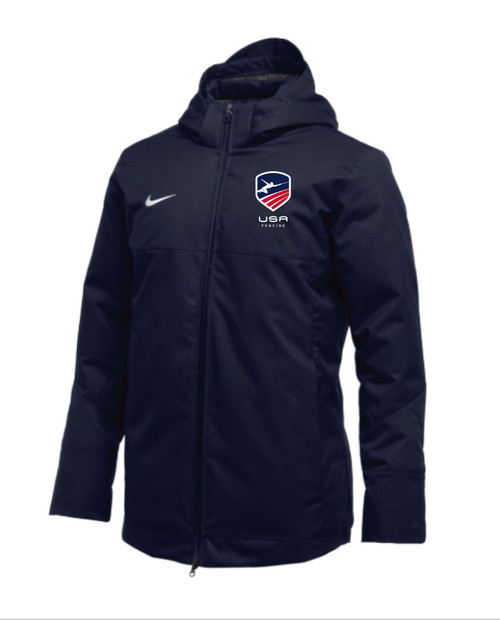 Nike Men's USAF Team Down Filled Parka - Navy/Red/White/Blue