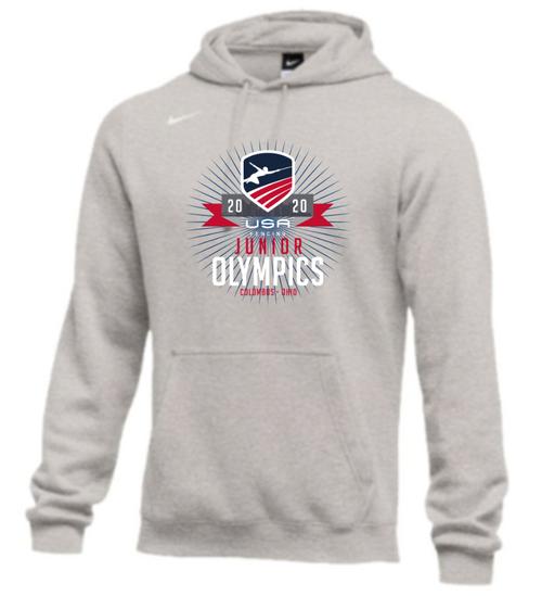Nike Men's USA Fencing Junior Olympics Club Fleece Hoodie - Grey