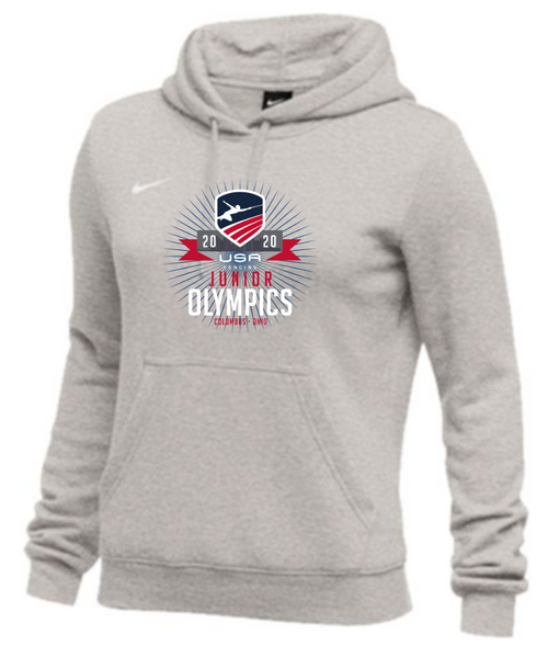 Nike Women's USAF Junior Olympics Club Fleece Hoodie - Grey