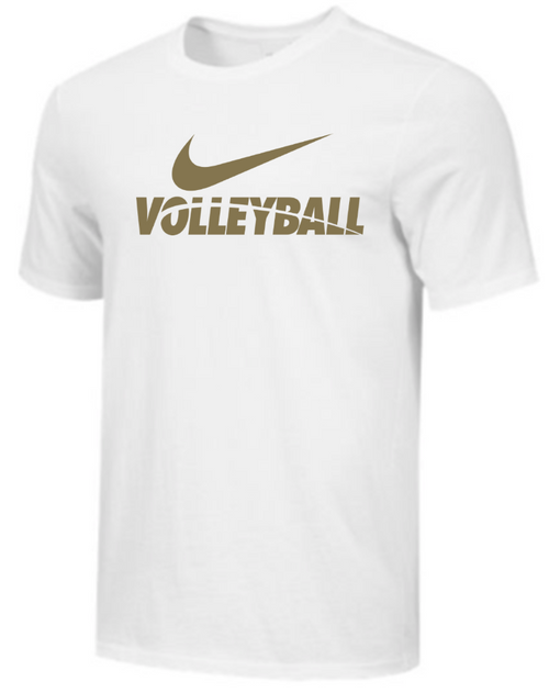 Nike Men's Volleyball Tee - White/Gold