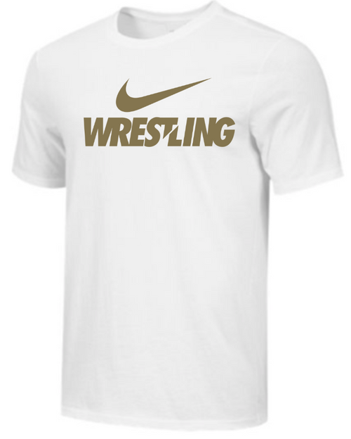 Nike Men's Wrestling Tee - White/Gold