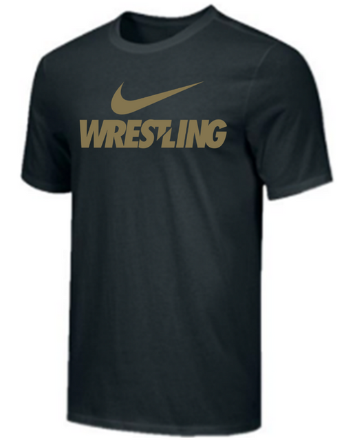 Nike Men's Wrestling Tee - Black/Gold