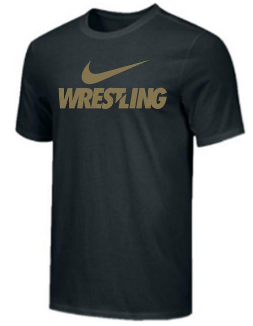 Nike Men's Wrestling Tee - Black/Gold