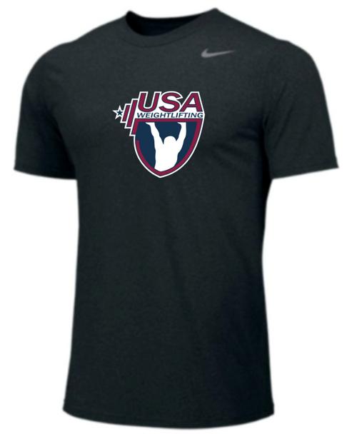 Nike Youth USAW Team Legend SS Crew - Black