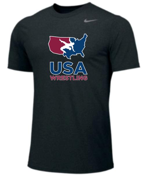 Nike Youth USAWR Team Legend SS Crew - Black