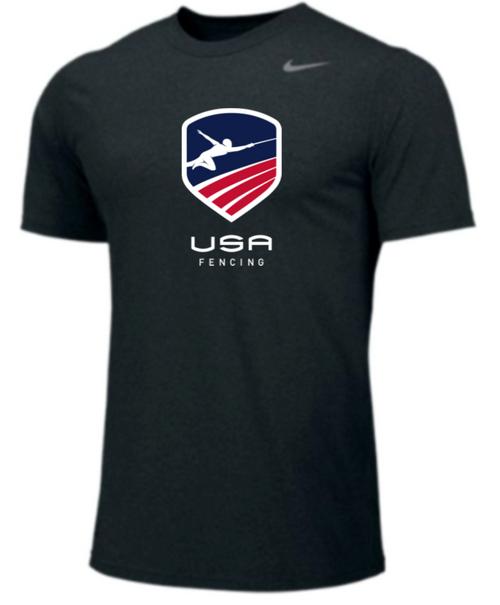 Nike Youth USAF Team Legend SS Crew - Black