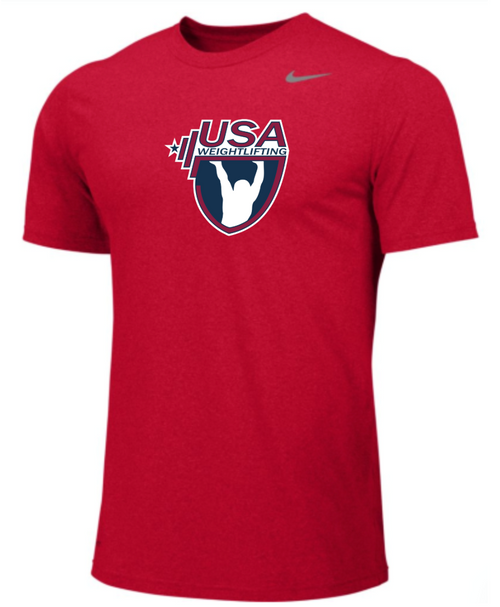 Nike Youth USAW Team Legend SS Crew - Scarlet