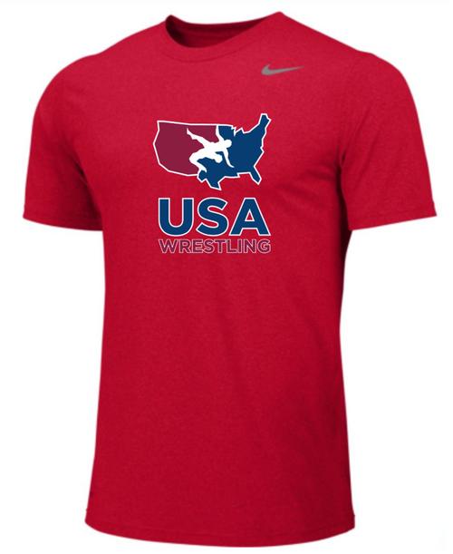 Nike Youth USAWR Team Legend SS Crew - Scarlet
