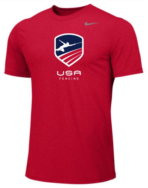 Nike Youth USAF Team Legend SS Crew - Scarlet
