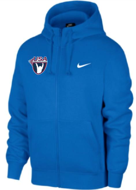 Nike Youth USAW Club Fleece Full Zip Hoodie - Royal