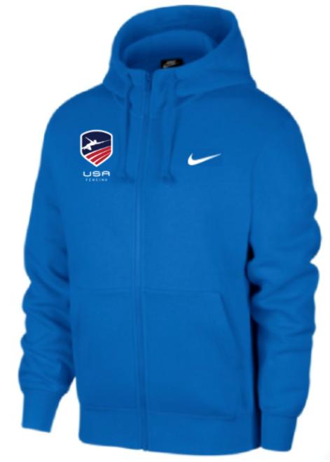 Nike Youth USAF Club Fleece Full Zip Hoodie - Royal