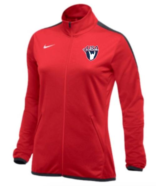 Nike Women's USAW Epic Jacket - Scarlet/Anthracite