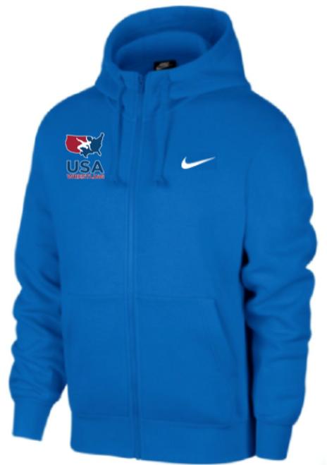 Nike Men's USAWR Club Fleece Full Zip Hoodie - Royal