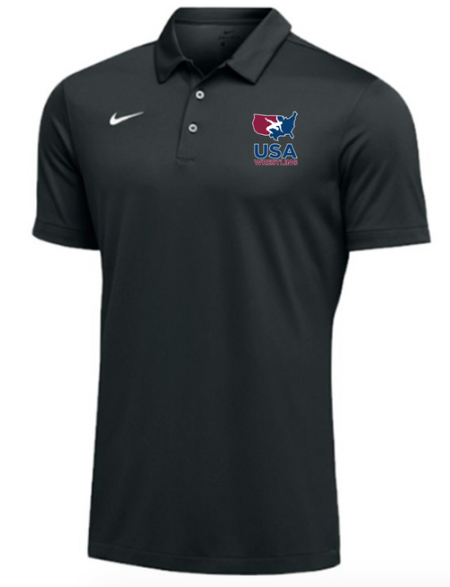 Nike Men's USAWR SS Polo - Black