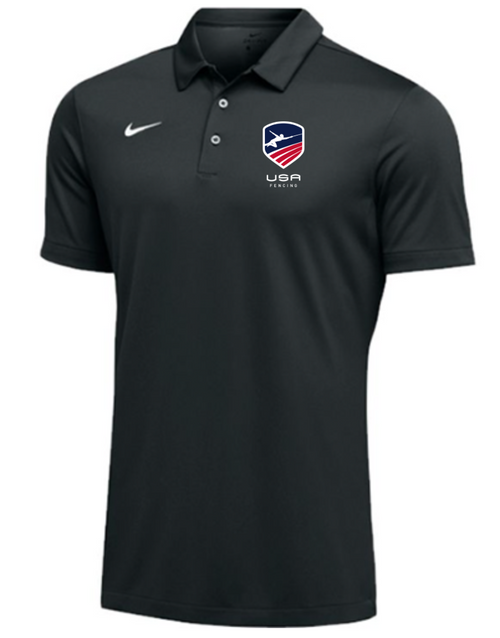 Nike Men's USAF SS Polo - Black
