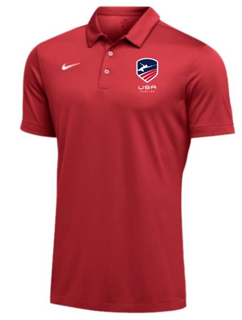 Nike Men's USAF SS Polo - Scarlet