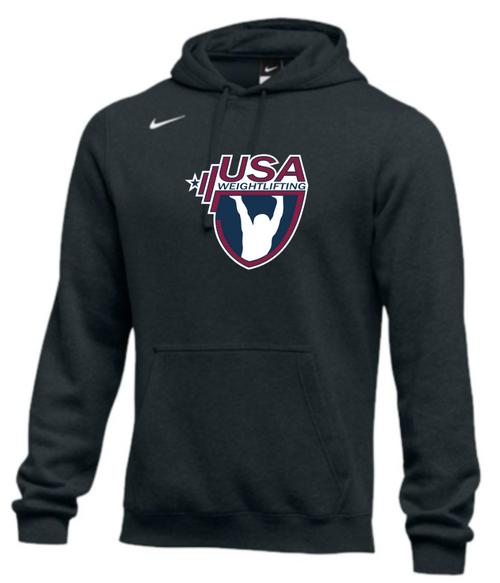 Nike Men's USA Weightlifting Club Fleece Pullover Hoodie - Black