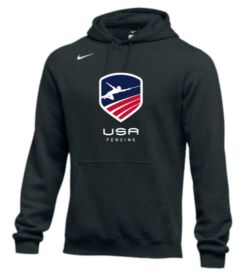 Nike Men's USA Fencing  Club Fleece Pullover Hoodie - Black
