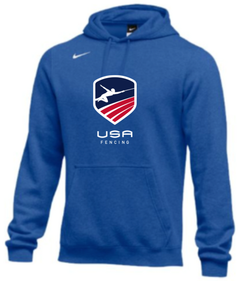 Nike Men's USA Fencing  Club Fleece Pullover Hoodie - Royal