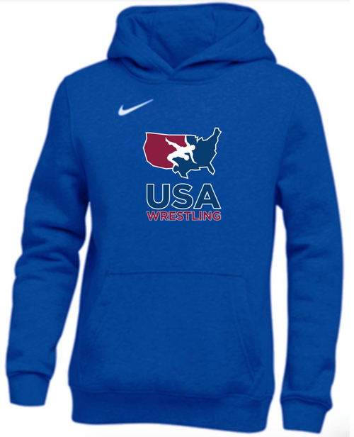 Nike Youth USAWR Club Fleece Pullover Hoodie - Royal