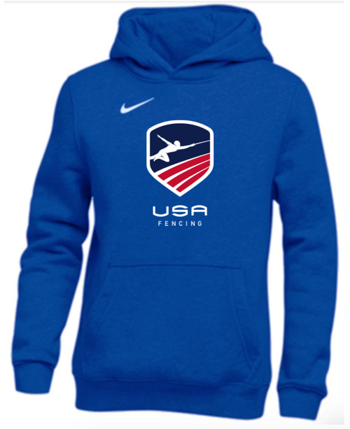 Nike Youth USAF Club Fleece Pullover Hoodie - Royal