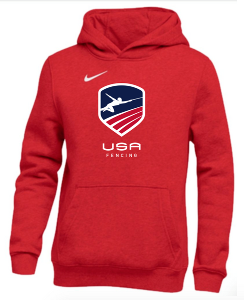 Nike Youth USAF Club Fleece Pullover Hoodie - Scarlet