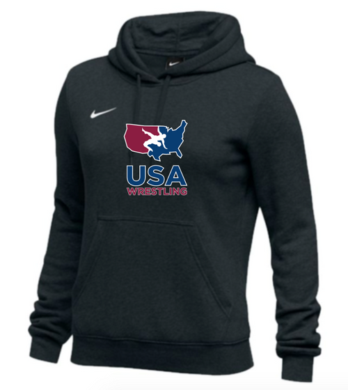 Nike Women's USAWR Club Fleece Pullover Hoodie - Black