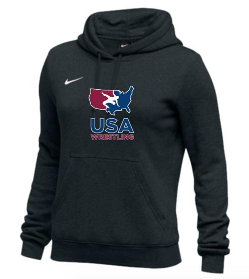 Nike Women's USAWR Club Fleece Pullover Hoodie - Black